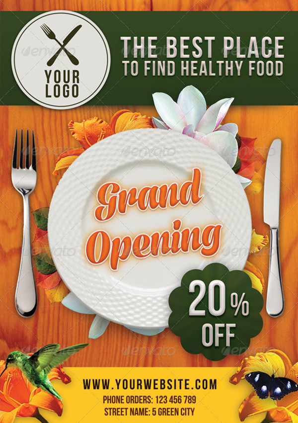 Advertising Healthy Restaurant Flyer