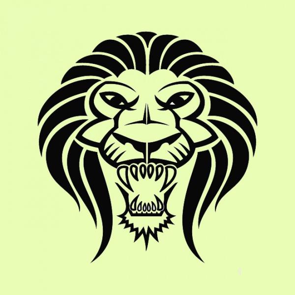 African Lion Cat Vector