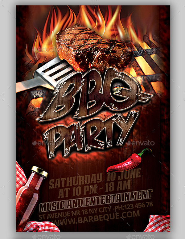 Amazing BBQ Flyer Template