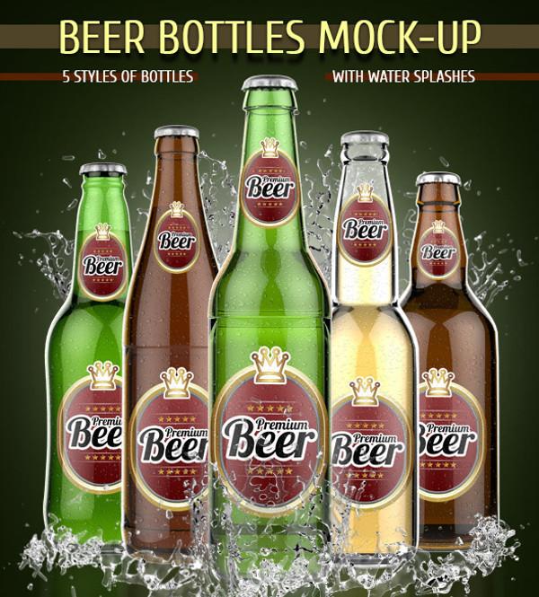 Amazing Mock-up of Beer Bottle