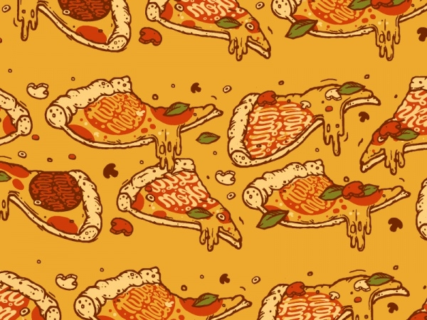 Amazing Pizza Fast Food Pattern