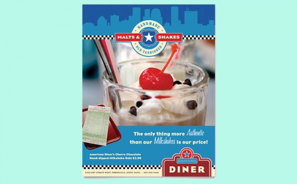 American Diner Restaurant Flyer