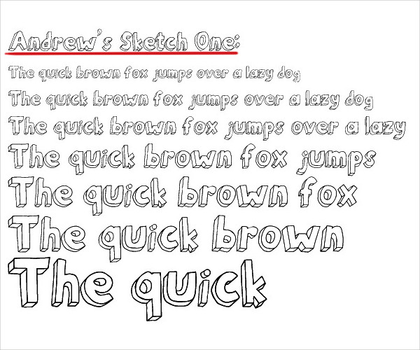 Andrew's Sketch Font