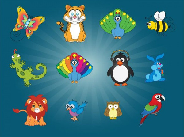Animal Vector Cartoon Graphics