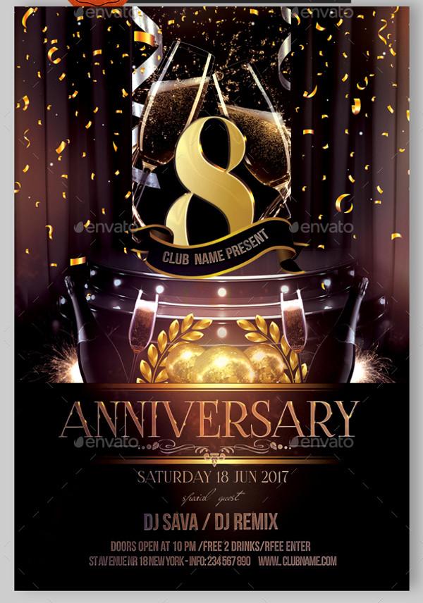 Anniversary Invitation Flyer Design