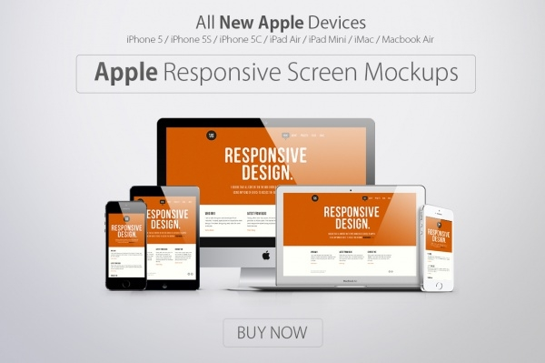Apple Responsive Screen Mock-up