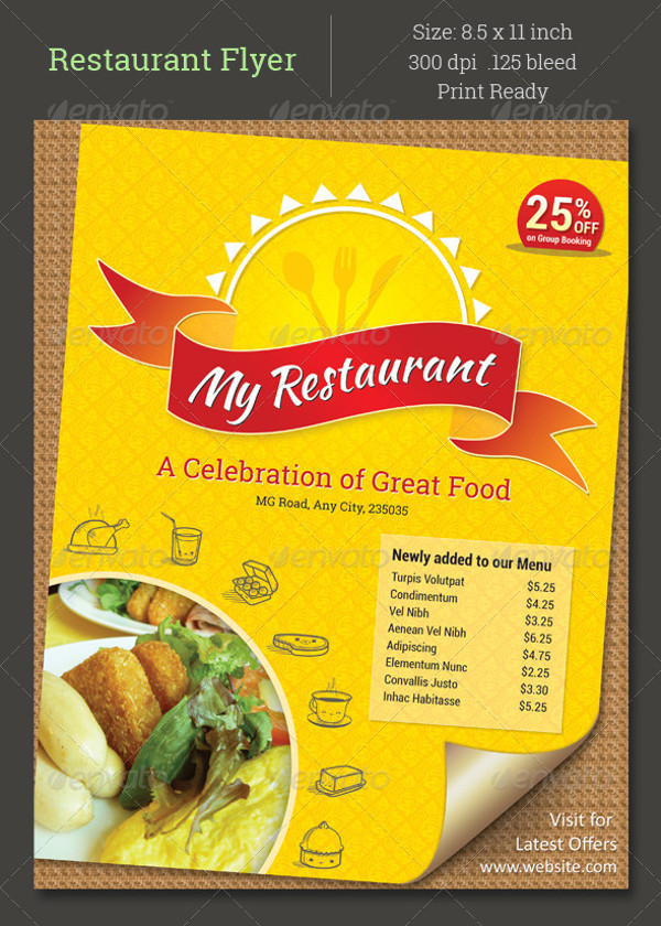 Arabic Food Restaurant Flyer