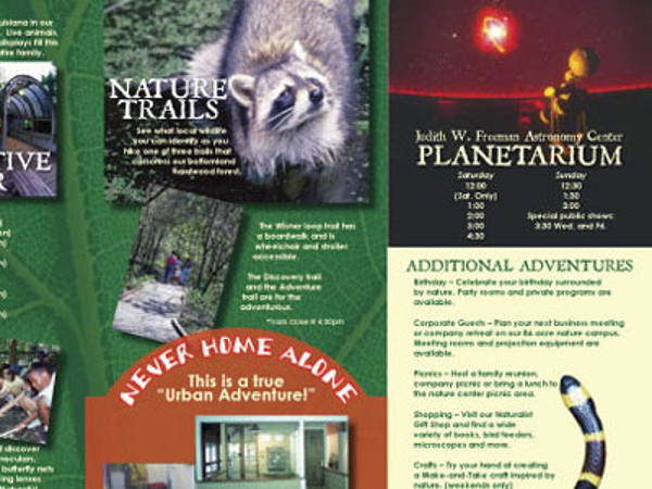Audoubon Zoo Brochure Design