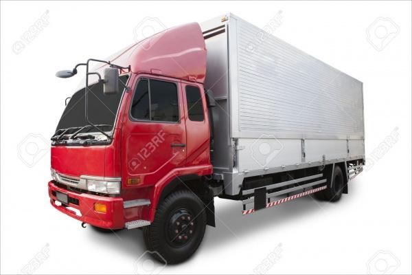 Automobile Goods Truck Mock-up