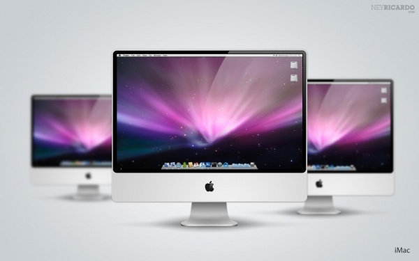 Awesome iMac PSD Mockup