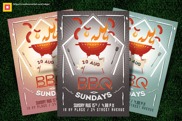 BBQ Cookout Flyer Design