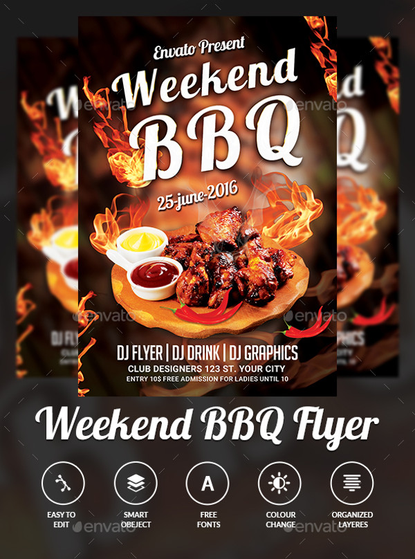 BBQ Event PSD Flyer