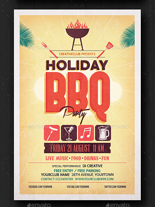 BBQ Fundraiser Cool Flyer