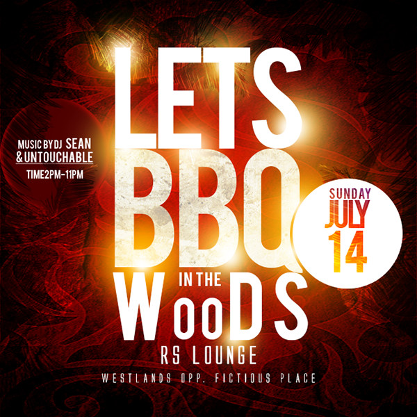 BBQ In The Woods Flyer