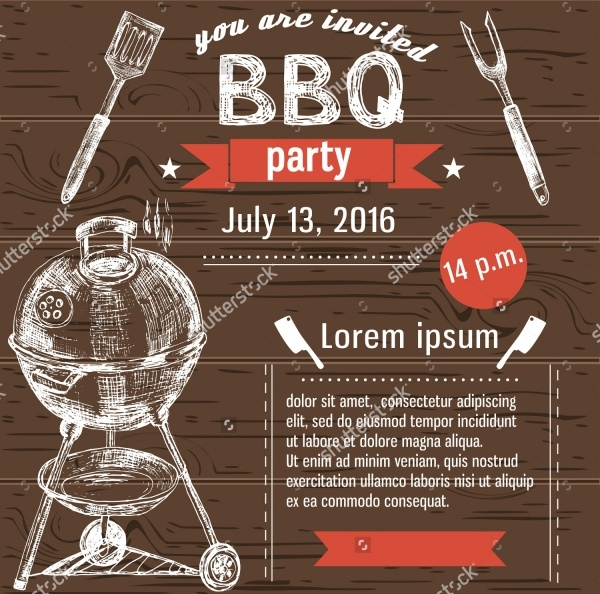 BBQ Invitation Cool Flyer