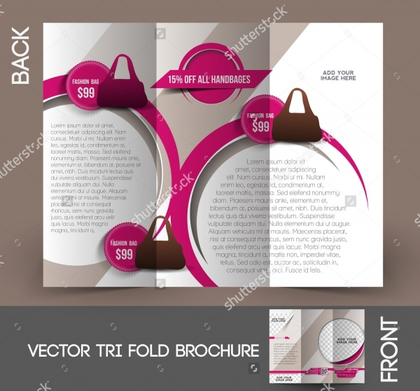 Bag Store Tri-Fold Brochure Design