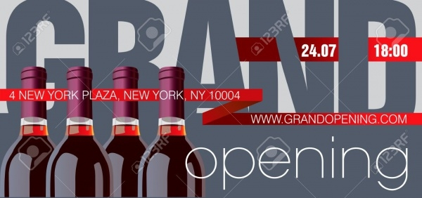 Bar Grand Opening Flyer Template
