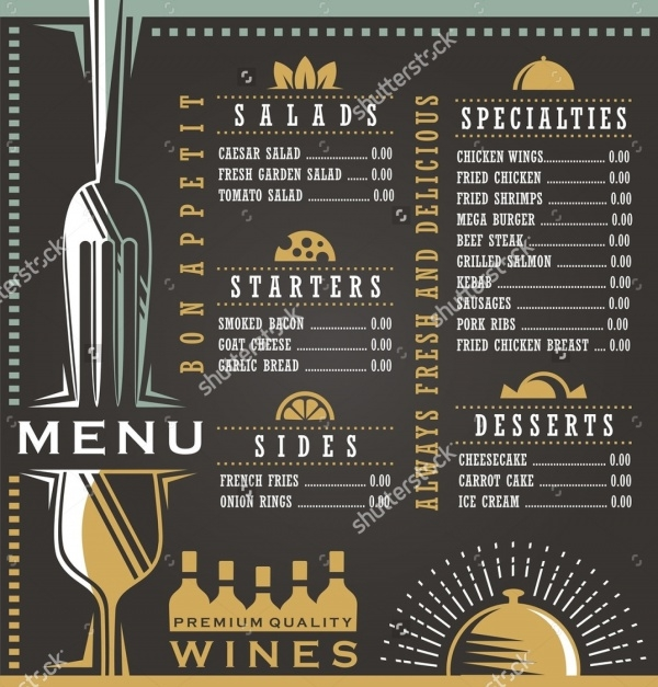 Bar Menu Flyer Design