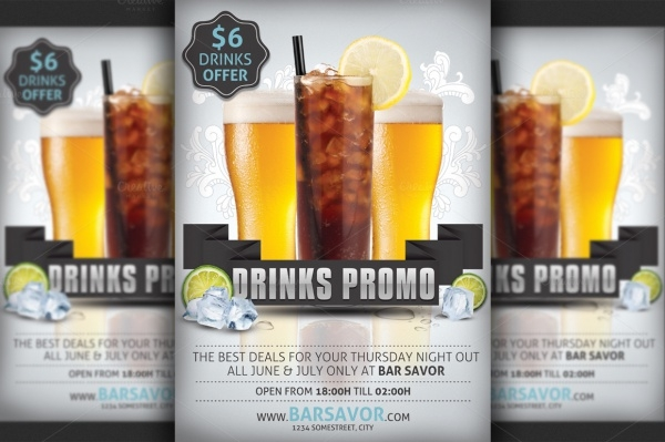 20 Bar Flyer Templates PSD Vector EPS JPG Download – Bar Flyer Template