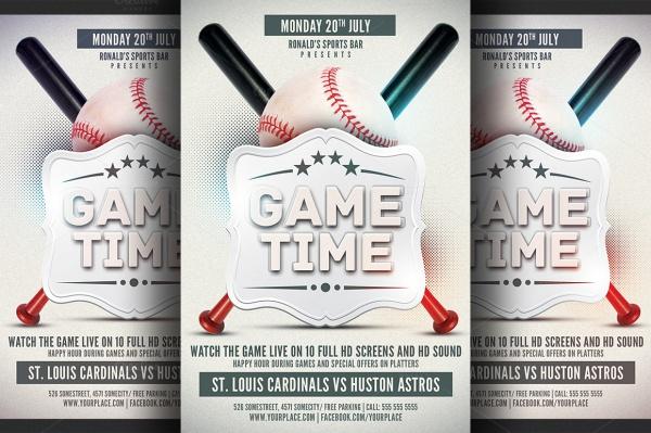 Baseball Advertising Champion Flyer