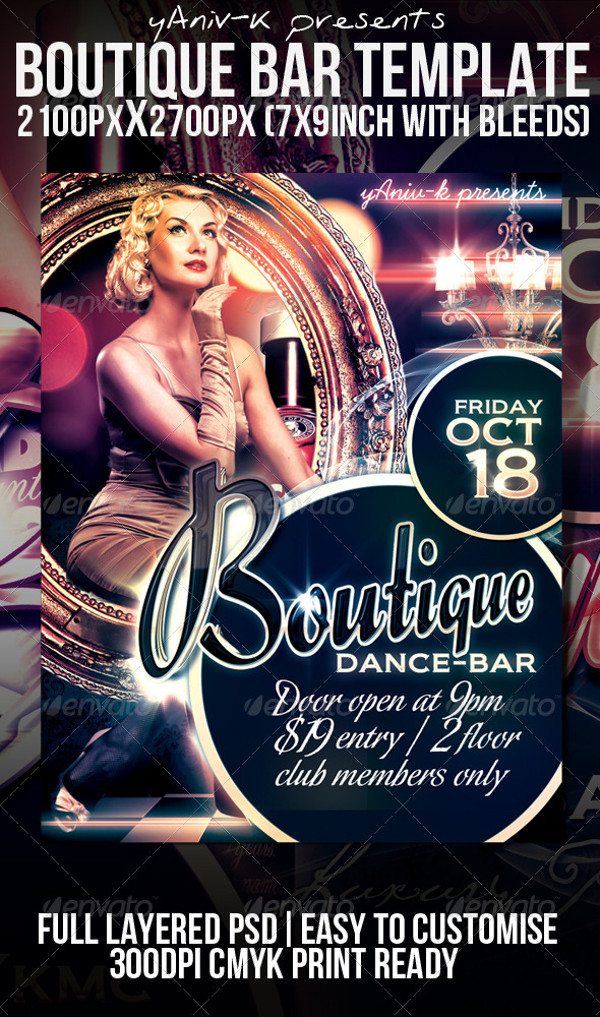 Beautiful Boutique Bar Flyer