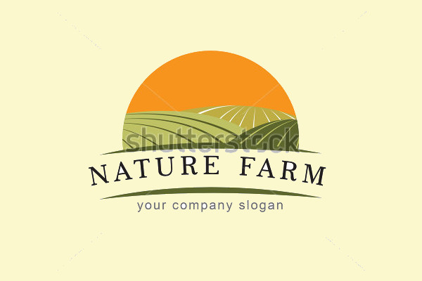 Beautiful Farm vector Logo