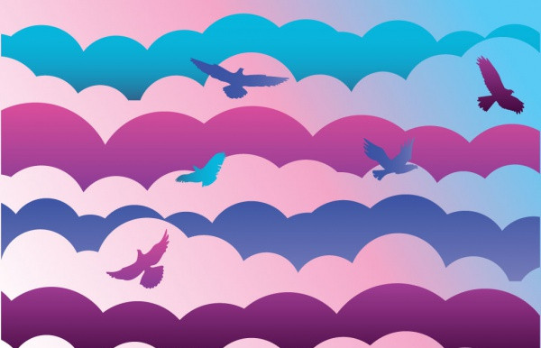 Beautiful Sky Vector For Spring