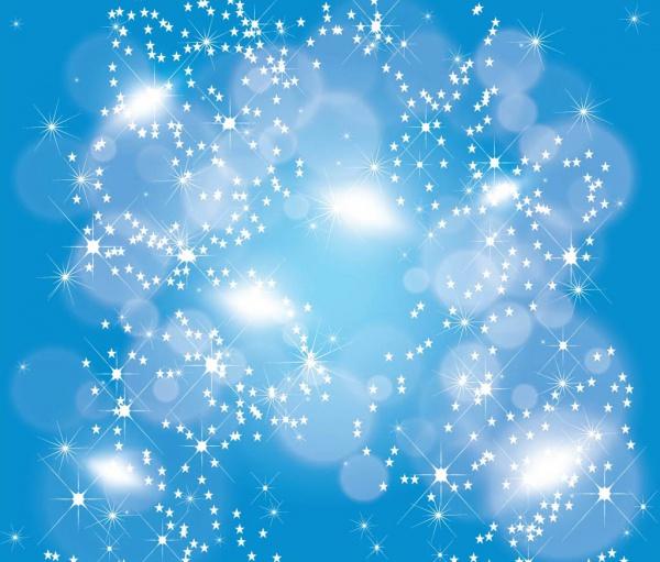 Beautiful Stars In Heaven vector