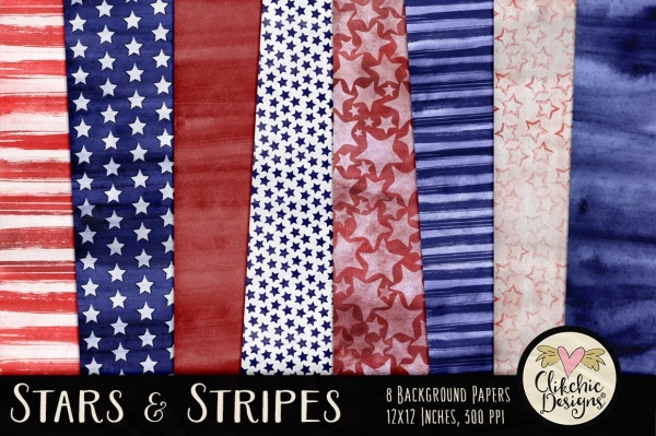 Beautiful Stars and Stripes Themed Texture