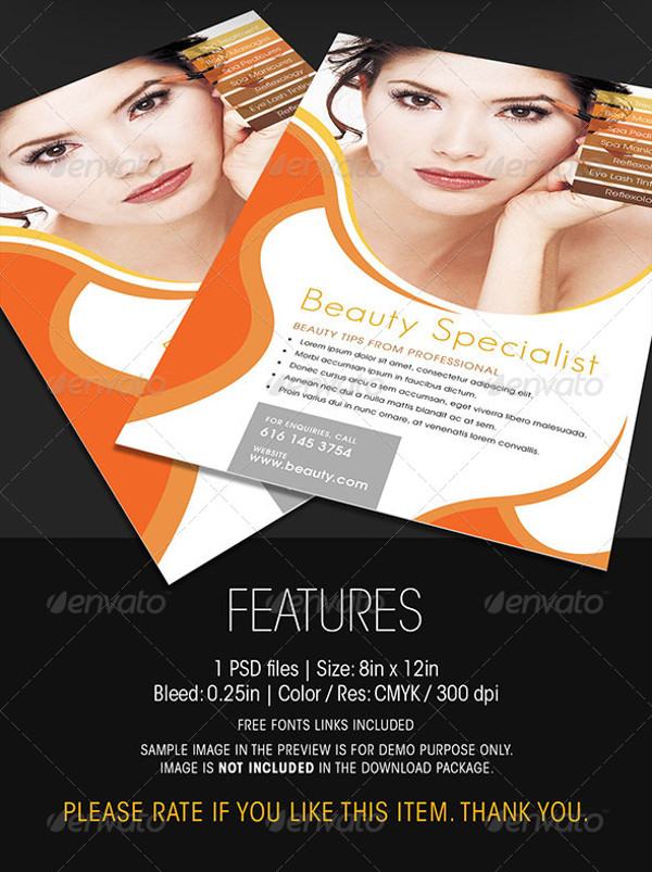 Beauty And Cosmetic Flyer Design