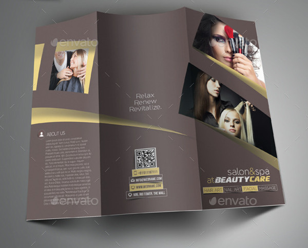 Salon Brochure Templates  Psd Vector Eps Jpg Download