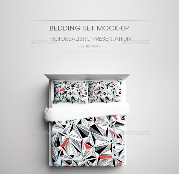 bedding set mock up