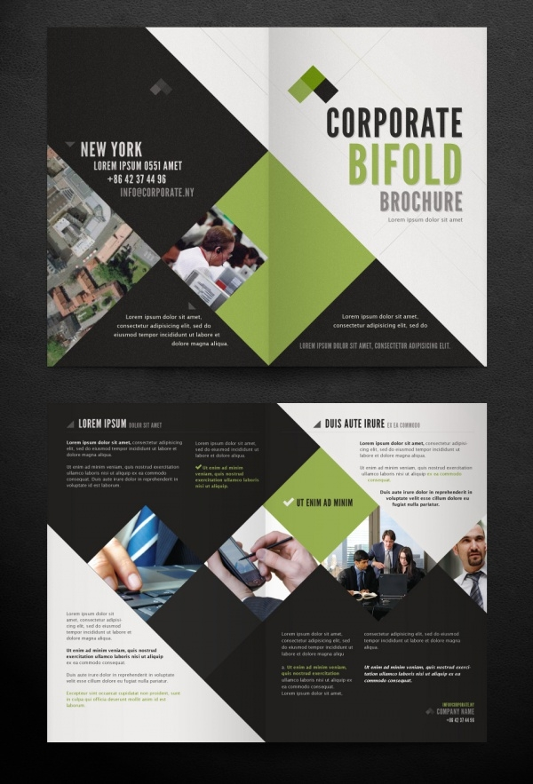 Bifold Brochure Templates PSD Vector EPS JPG Download - Brochure photoshop template
