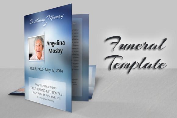 Bi-fold Modern Funeral Template