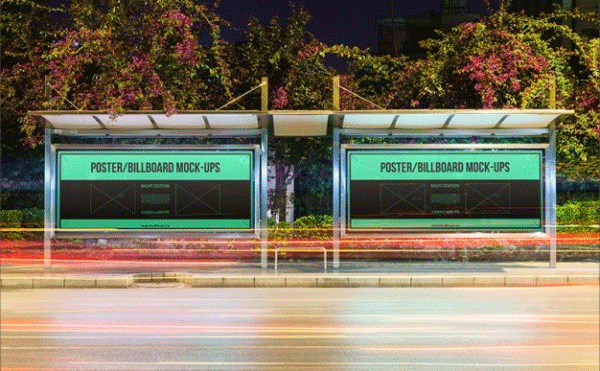 billboard bus advertising mockup template1