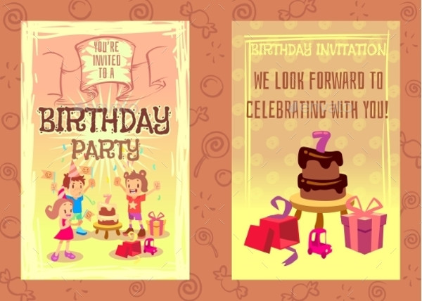 Birthday Party Invitation Card Brochure