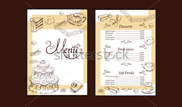 Birthday Party Menu Brochure Design