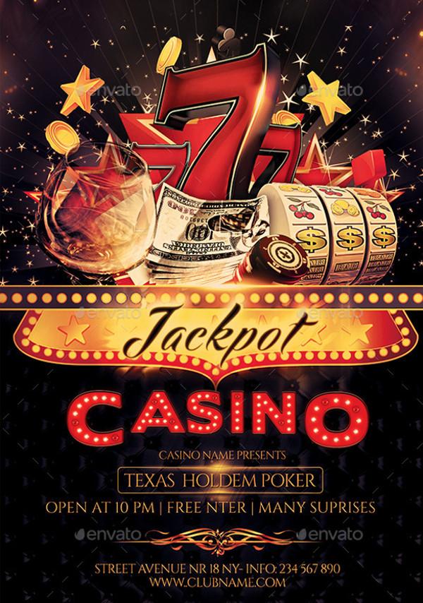 Black Jack Casino Gambling Flyer