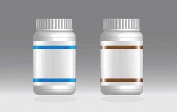Blank Pill Bottles Mockup