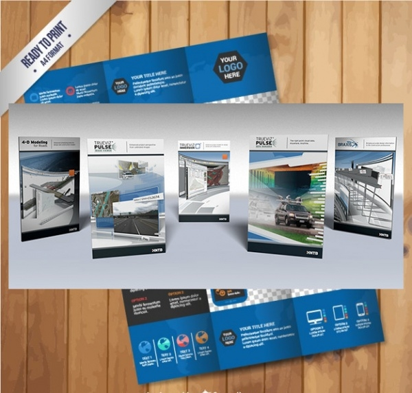 Blue Infographic Technology Brochure