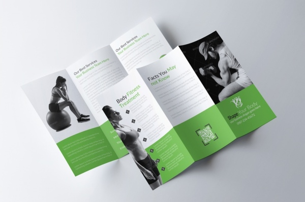 Body Fitness Trifold Brochure