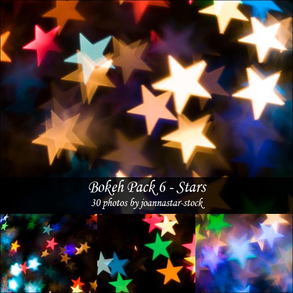 Bokeh Pack 6 Stars Texture