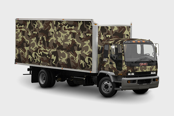 Branding Design Truck Mock-up