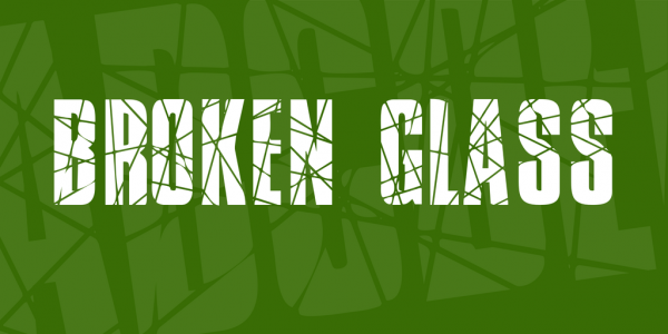 Broken Glass Regular Font