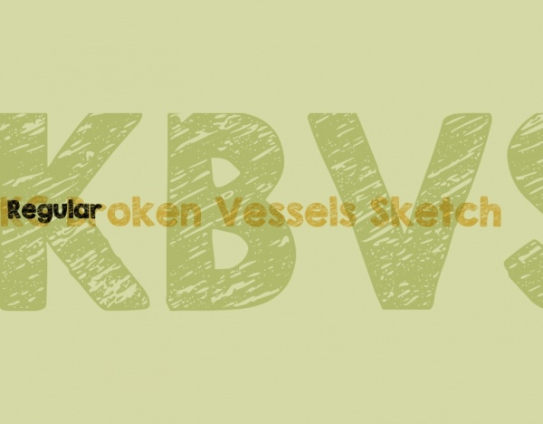 Broken Vessels Sketch Font