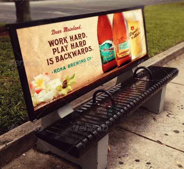 bus stop bench advertisement mockup1