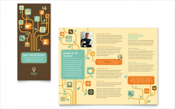 Business Advertising Services Tri Fold Brochure