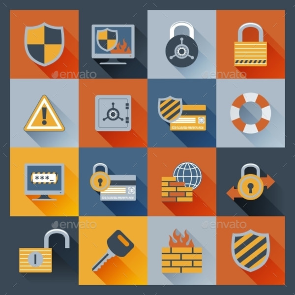 Business Card Security Icons