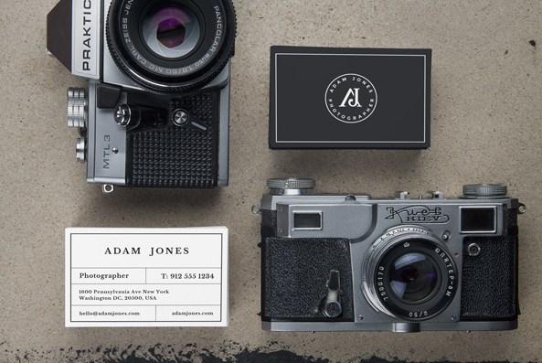 Cameras Business Card Mockup