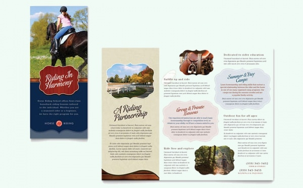 Camp Tri Fold Brochure Template